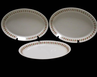 Syracuse China - Medium Oval Platter - Captain's Table Pattern - 3 available  - 1960s