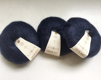 33% Off Rowan Kid Silk Haze Lace Yarn Deep Blue 229 Yards