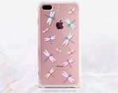 iPhone 7 Dragonflies Clear Rubber Case iPhone 7 Plus Clear Case iPhone 6 Clear Case iPhone 6S Case iPhone SE Case Samsung S7 Edge Case U85