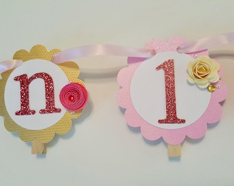 Flower 12 month photo banner floral one year banner picture sign roses