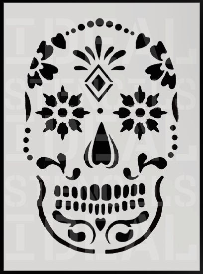 Sugar Skull Stencil Home Decorating stencil painting