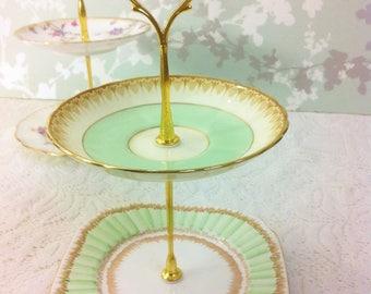 Mint Green 2 Tier Mini Cake Stand