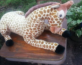 Vintage Jumbo Giraffe Cuddlekins Wild Republic_ Plush Stuffed Animal Toy