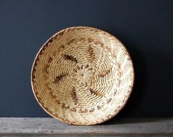 Natural Grass Boho Style Vintage Woven Basket