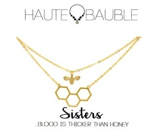 Queen Bee Sisters Friendship Necklace Set