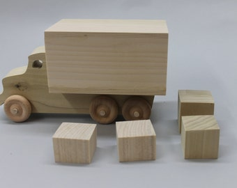 Moving or parcel truck, solid wood