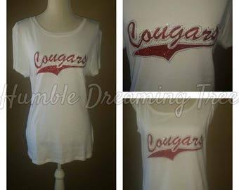 University of Houston Cougars Glitter & Bling T-shirt or Tank