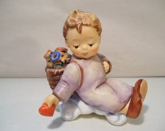 Vintage M.I. Hummel Love From Above Porcelain Figurine Ornament, #481, 1989, TMK6, Goebel, Germany