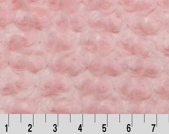 Baby Pink Minky Fabric, Rose Swirl Cuddle Minky Fabric by Shannon Fabrics