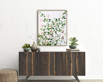 "Painting Wall Art Canvas Green Copper ""Verdant Dream"" Original and Canvas Prints Mid Century Modern Painting Abstract Copper Wall Art"