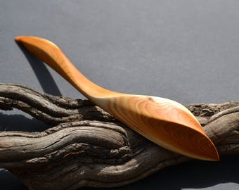 Yew Wood Hairstick, simple, colorful, beautifully grained