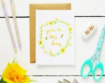 You're the Bee's Knees - Postcard