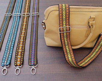 Guitar Strap Style Handbag Strap - AMBER Style - Adjustable Bag Strap, Suitasble for Handbags and Messenger Bags - FREE Expedited Shipment