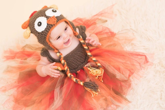 Crochet Turkey Tulle Tutu Dress