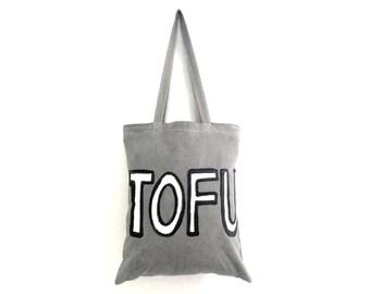 OUTLINED Tofu Grey Eco Tote Bag / Eve Damon