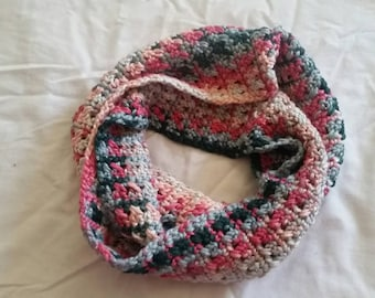 Clearance Crochet Silk/Bamboo Infinity Scarf Ready to Ship