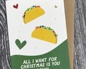 Christmas Tacos (Greeting Card)