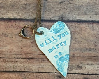 Will you marry me Christmas Ornament
