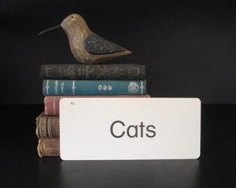 Vintage Flash Card Cats