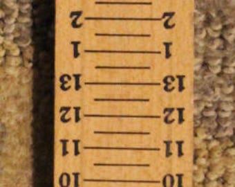 Vintage Thom McAn Genuine Wood Foot Measure