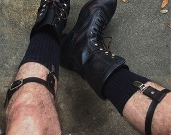 Leather sock guards