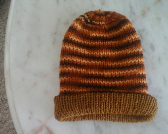 Handmade knitted reversible beanies, choose your size and colors. Custom make hats, beanies double knit, beanies for adults and children,