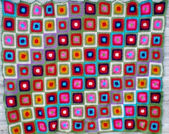 Crochet Pattern - Ann's Afghan Crochet Pattern - Parks and Recreation Afghan Pattern - Granny Square Afghan Pattern