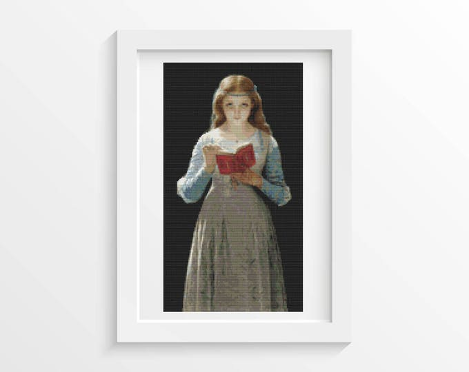 Cross Stitch Pattern PDF, Embroidery Chart, Art Cross Stitch, Woman Cross Stitch, Ophelia by Pierre Auguste Cot (COT01)
