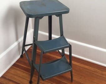 shabby chic kitchen stool green step stool metal stool