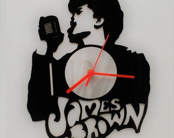 James Brown Vinyl Clock