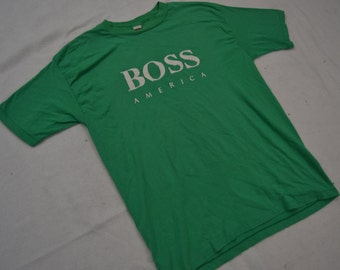 Ultimate Vintage 90's BOSS AMERICA Green T-Shirt
