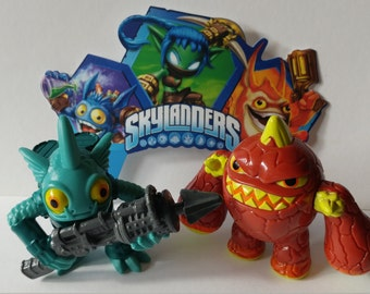 SKYLANDERS CAKE TOPPER awesome birthday party decor swap force portal power action figure toys Eruptor Gill Grunt Pop Fizz Stealth Elf