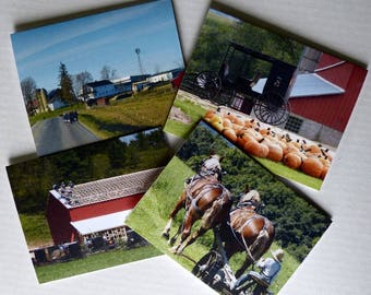Stationery, Amish, Note Cards, Greeting Cards, Wisconsin, Premium Quality, Set of 4 With Envelopes