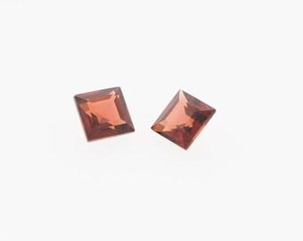 5mm Square Carre Cut Alamandine Garnet