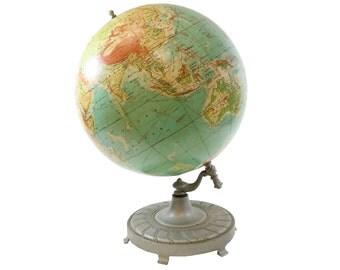 Gigantic Mid Century Rand McNally Vintage World Globe  - Circa 1957