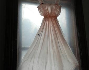 ORIGINAL 1960's ARDELE Vintage  Sheer Pink Chiffon Nightgown New with Original Box