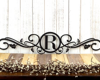 Monogram Metal Sign | Custom Sign | Monogrammed Sign | Wedding Gift |  Custom Monogram |