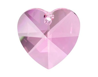 ONE Pink 28mm Heart Chandelier Crystal Prism Shabby Chic Chandelier Parts