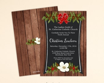 Christmas Party Invitation, Holiday Party, Xmas Luncheon, Cocktail Party, Holiday Open House, Holiday Birthday Party, Christmas Invite C2001
