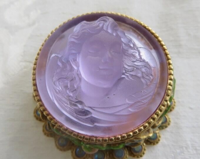 Kirks Folly Dream Angel Trinket Box, Vanity Box, Cherub Pill Case, Kirks Folly Jewelry