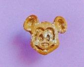 Mickey Mouse Waffle Pin - Handmade Mini Food Dessert Candy Jewelry - Disney Disneyland Gift Souvenir - Brooch Lapel Pin