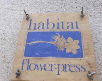 Flower press , flower press, 1960s , flowers, habitat , vintage, pressed flowers