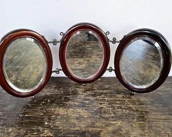 Vintage Tri-Fold Shaving Mirror