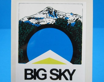 "Vintage... ""BIG SKY Montana State""   Sticker / Decal  (New Old Stock)"