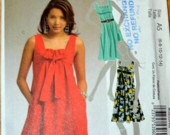 Uncut McCall's 5655 Dress pattern, sizes 6, 8, 10, 12, and 14
