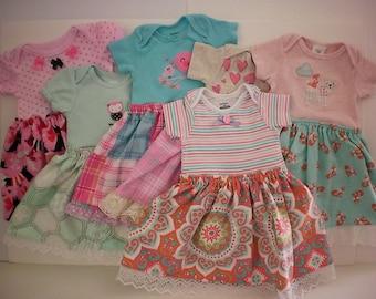 Infant girl onesie dress - 3-6 months