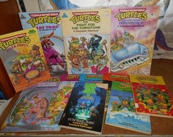 lot 11 tmnt childrens books and coloring books ninja turtles vintage - Tmnt Coloring Book