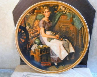 1981 Norman Rockwell Limited Edition & Numbered Collector's Plate