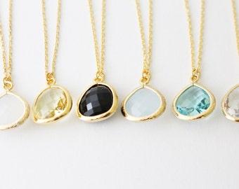 Drop Crystal Necklace // Crystal Necklace