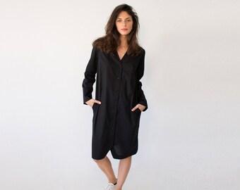 Black Womens Top, Kimono Blouse, Loose Blouse, Long Sleeve Blouse, Boho Top, Japanese Blouse, Festival Top, Steampunk Shirt, Gothic Shirt